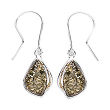 Buy Goldmajor Green Amber Drop Earrings, Silver Online at johnlewis.com