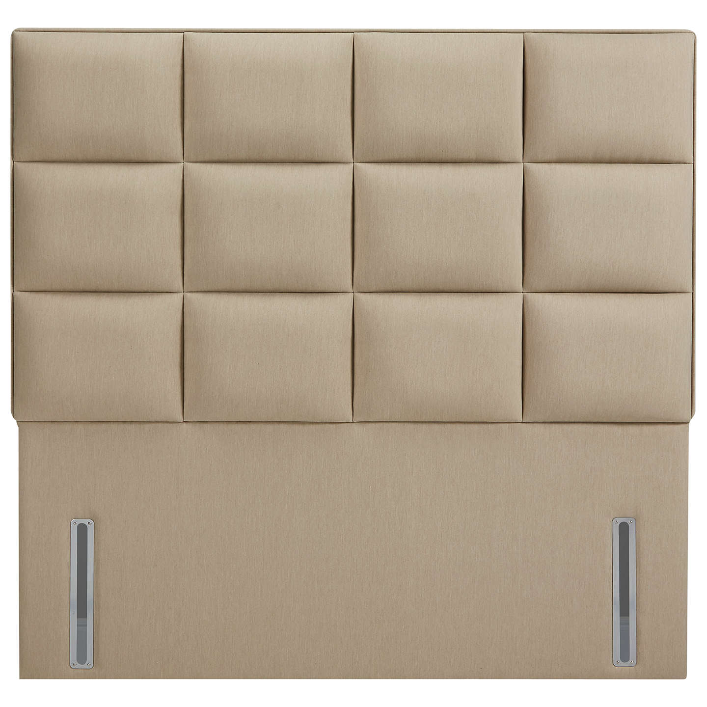 John Lewis The Ultimate Collection Gloucester Headboard, Pebble Canvas, King Size