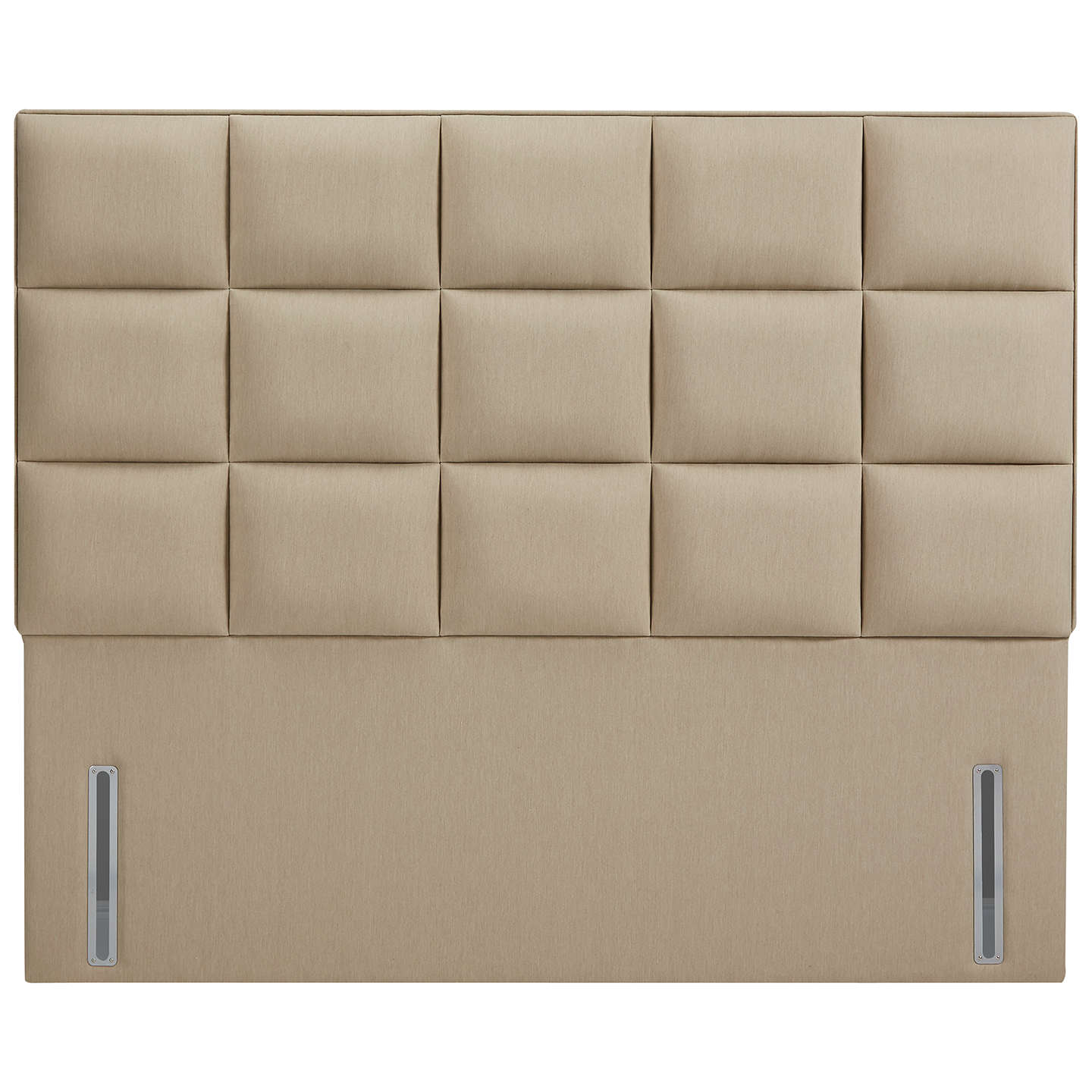 John Lewis The Ultimate Collection Gloucester Headboard, Pebble Canvas, Super King Size