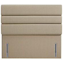 Buy John Lewis The Ultimate Collection Lancaster Headboard, Pebble Canvas, Super King Size Online at johnlewis.com