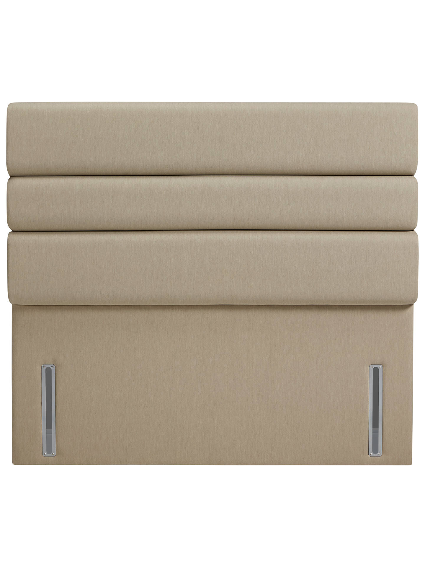 Buy John Lewis & Partners The Ultimate Collection Lancaster Headboard, Pebble Canvas, Super King Size Online at johnlewis.com
