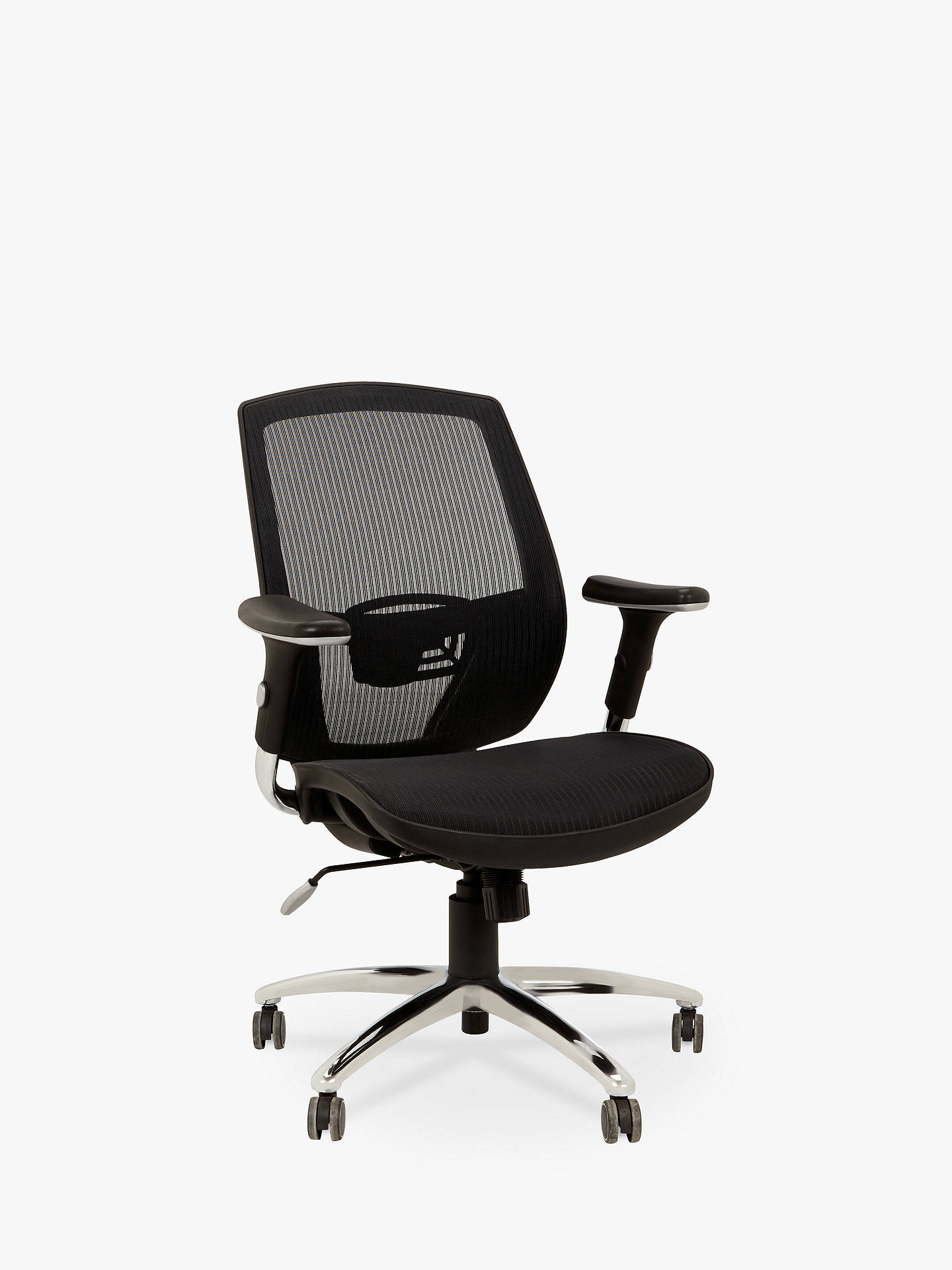 John Lewis Partners Murray Ergonomic Office Chair Black Online At Johnlewis