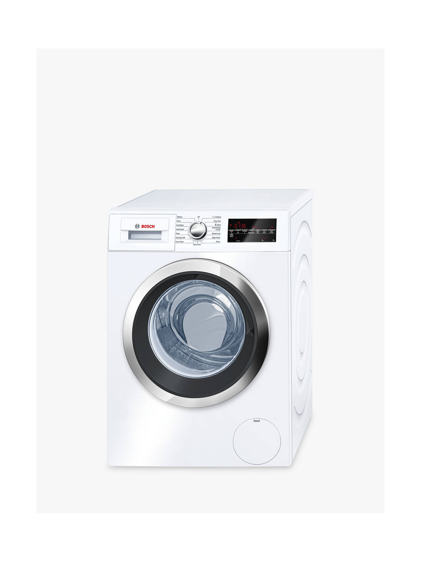 BuyBosch WAT32480GB Freestanding Washing Machine, 9kg Load, A+++ Energy Rating, 1600rpm Spin, White Online at johnlewis.com