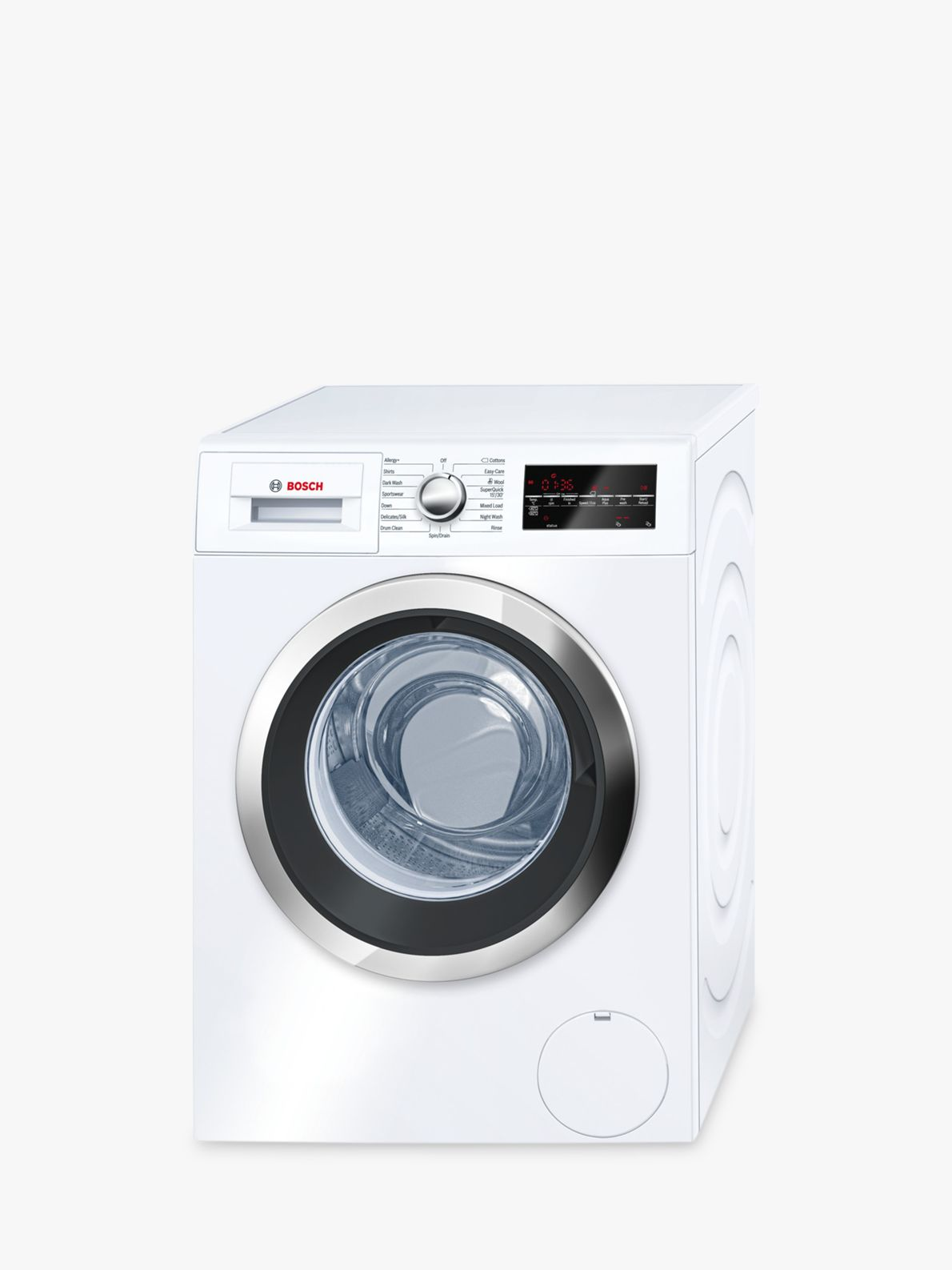 Bosch Bosch WAT32480GB Freestanding Washing Machine, 9kg Load, A+++ Energy Rating, 1600rpm Spin, White