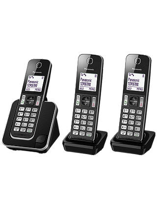 Buy Panasonic KX-TGD313ED Digital Cordless Phone with Nuisance Call Control, Trio DECT Online at johnlewis.com