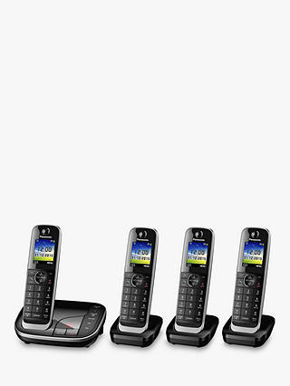 Buy Panasonic KX-TGJ324EB Digital Cordless Phone with Nuisance Call Control and Answering Machine, Quad DECT Online at johnlewis.com