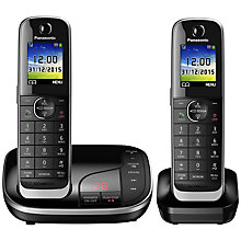Buy Panasonic KX-TGJ322EB Digital Cordless Phone with Nuisance Call Control and Answering Machine, Twin DECT Online at johnlewis.com
