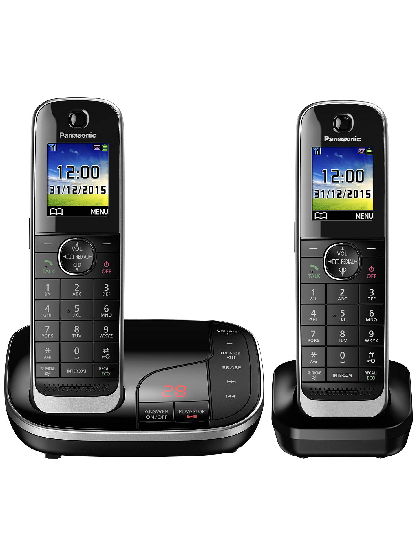 9c06d7ef1dd4 Buy Panasonic KX-TGJ322EB Digital Cordless Phone with Nuisance Call Control  and Answering Machine, ...