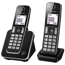 Buy Panasonic KX-TGD312ED Digital Cordless Phone with Nuisance Call Control, Twin DECT Online at johnlewis.com