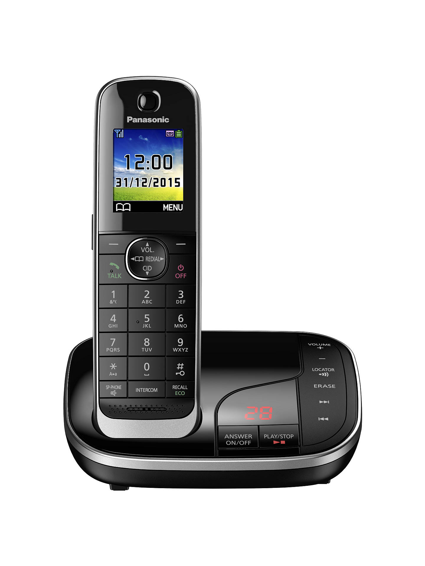 BuyPanasonic KX-TGJ320EB Digital Cordless Phone with Nuisance Call Control and Answering Machine, Single DECT Online at johnlewis.com
