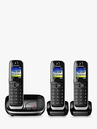 Panasonic KX-TGJ323EB Digital Cordless Phone with Nuisance Call Control and Answering Machine, Trio DECT