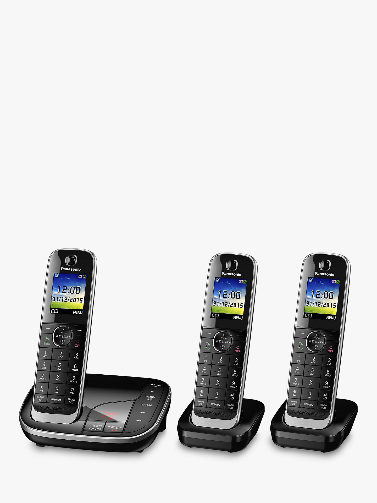 BuyPanasonic KX-TGJ323EB Digital Cordless Phone with Nuisance Call Control and Answering Machine, Trio DECT Online at johnlewis.com