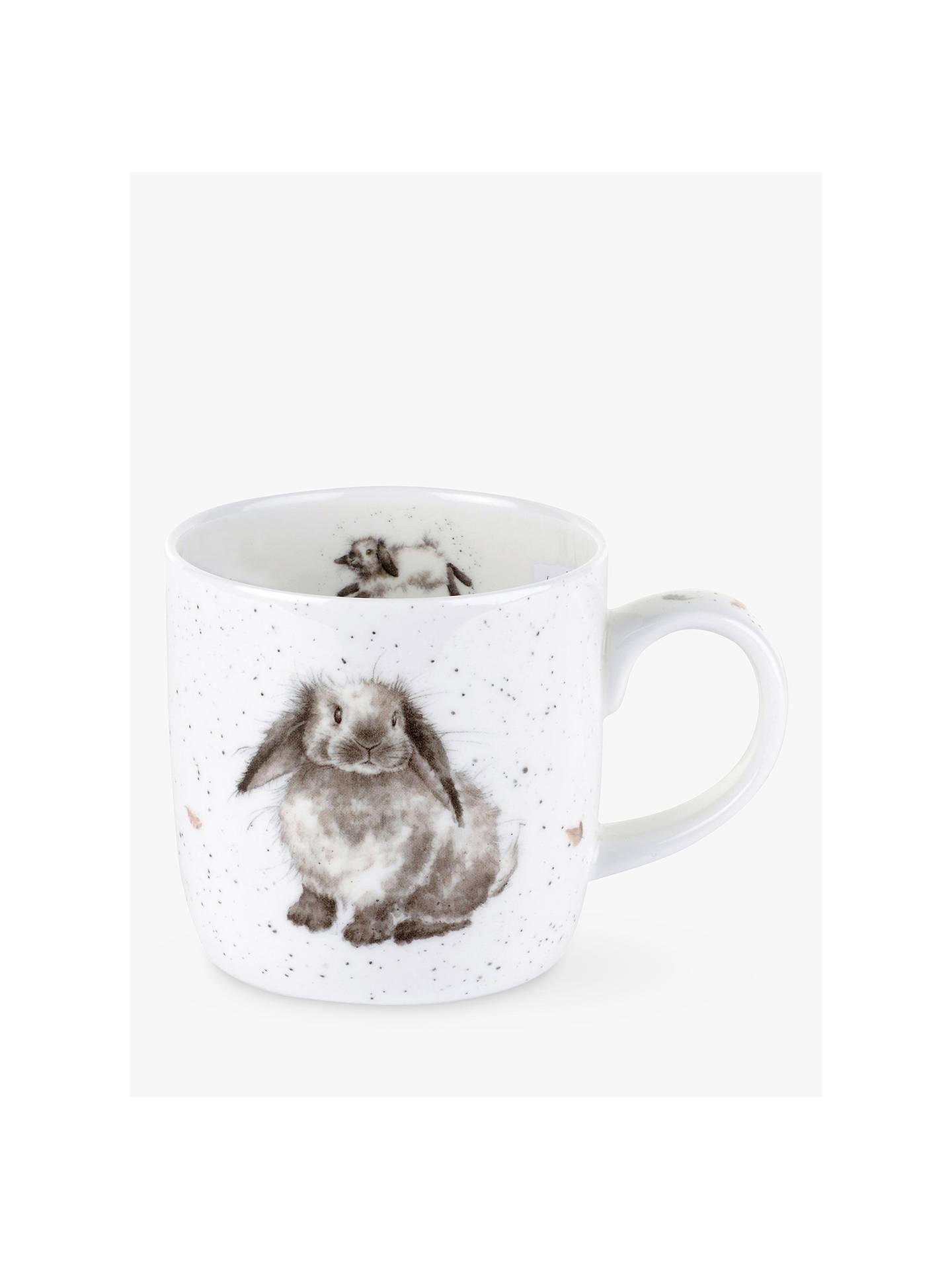 royal worcester wrendale bunny mug at john lewis partners. Black Bedroom Furniture Sets. Home Design Ideas