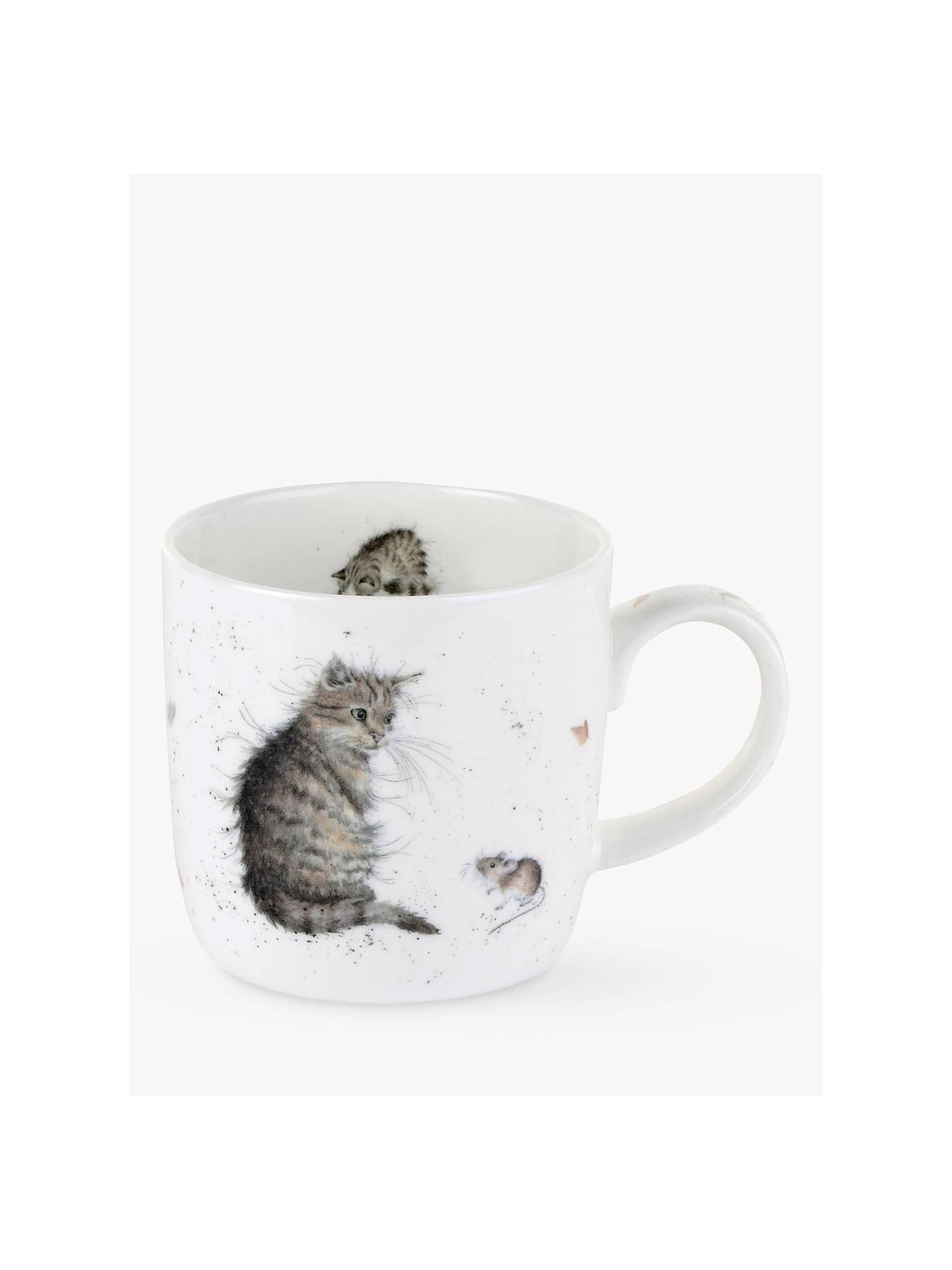 royal worcester wrendale cat mouse mug at john lewis. Black Bedroom Furniture Sets. Home Design Ideas