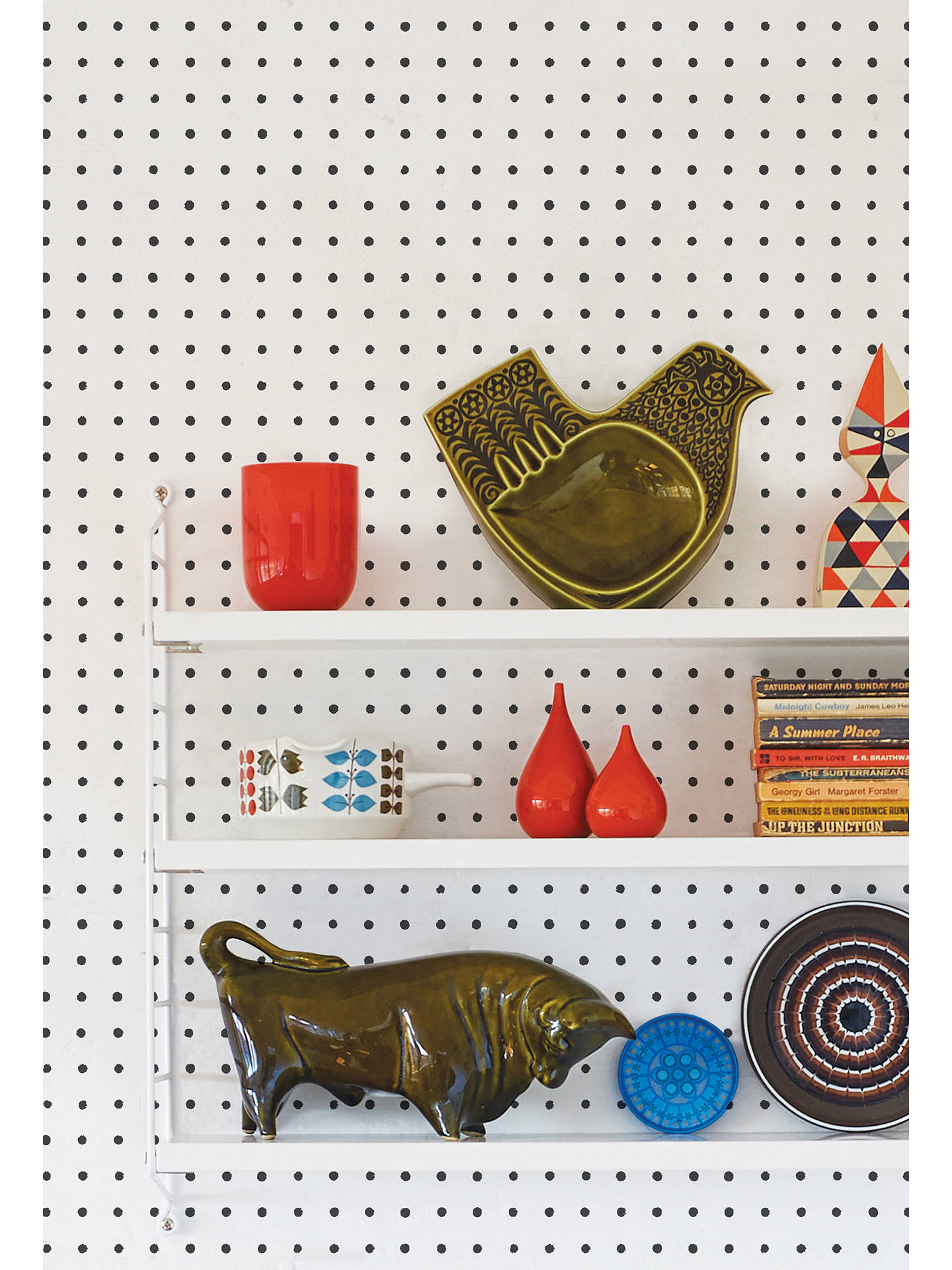 Buy Mini Moderns Peggy Wallpaper, Snow, AZDPT022SN Online at johnlewis.com