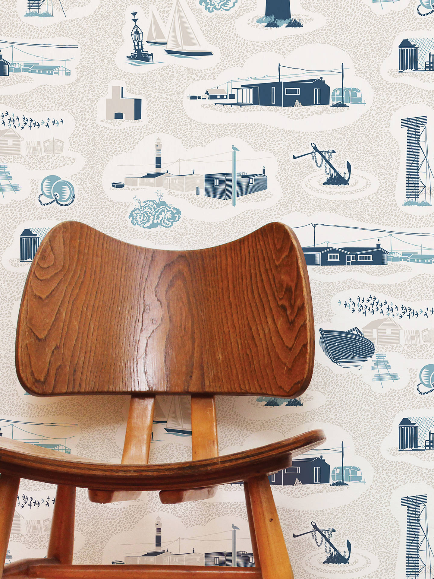 BuyMini Moderns Dungeness Wallpaper, Denim, AZDPT023WD Online at johnlewis.com
