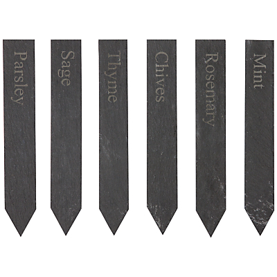 Garden Trading Set Of Herb Slate Markers
