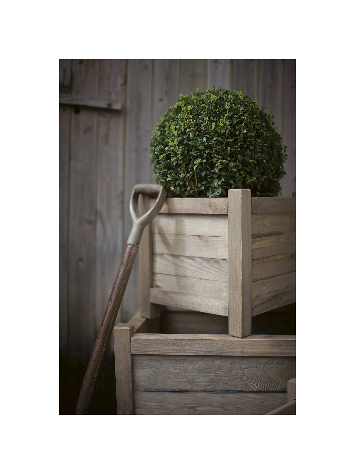 BuyGarden Trading Wooden Planter, 60cm Online at johnlewis.com