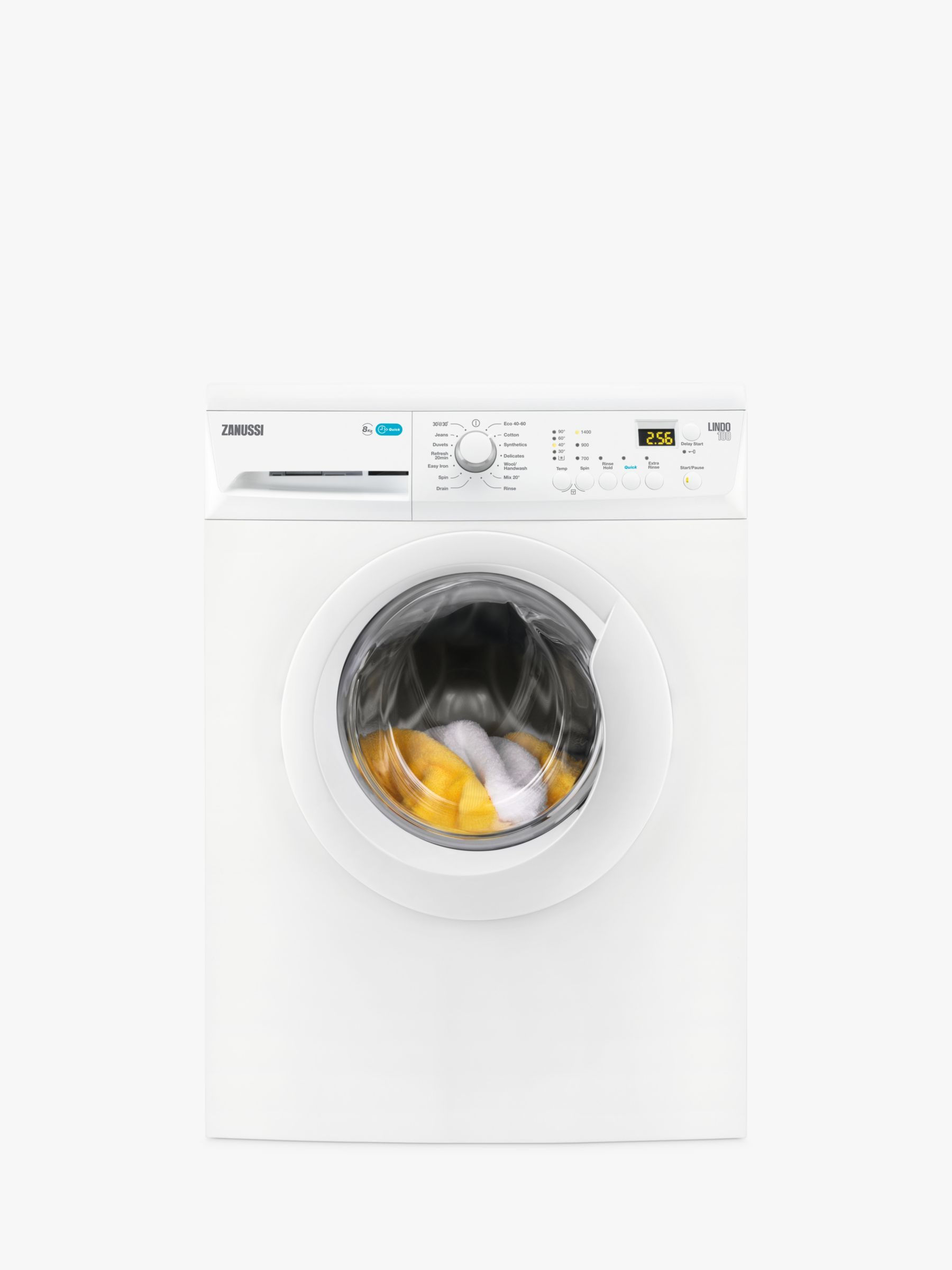 Zanussi Zanussi ZWF81441W Freestanding Washing Machine, 8kg Load, A+++ Energy Rating, 1400rpm Spin, White