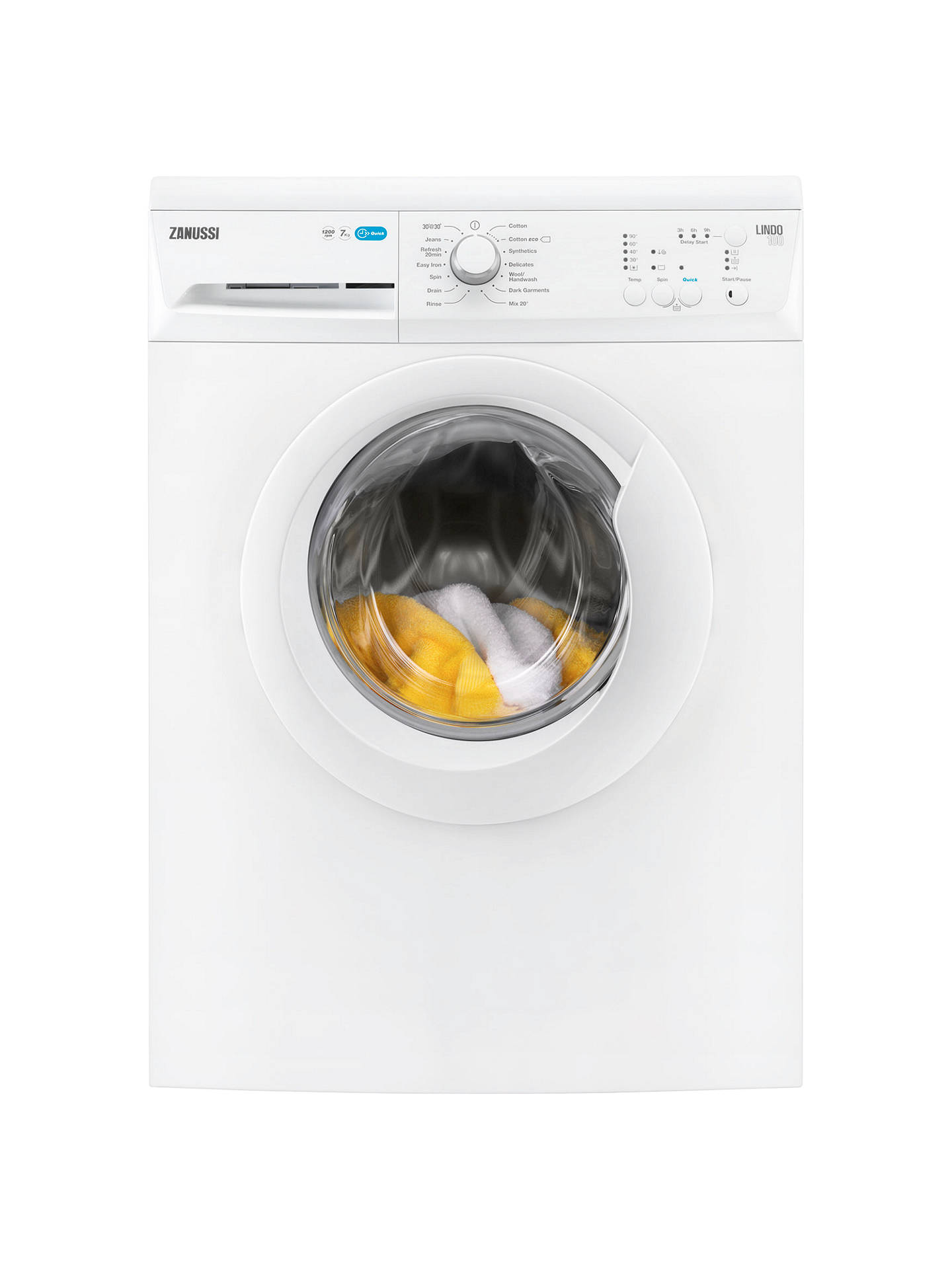 BuyZanussi ZWF71240W Freestanding Washing Machine, 7kg Load, A+++ Energy  Rating, 1200rpm Spin, ...