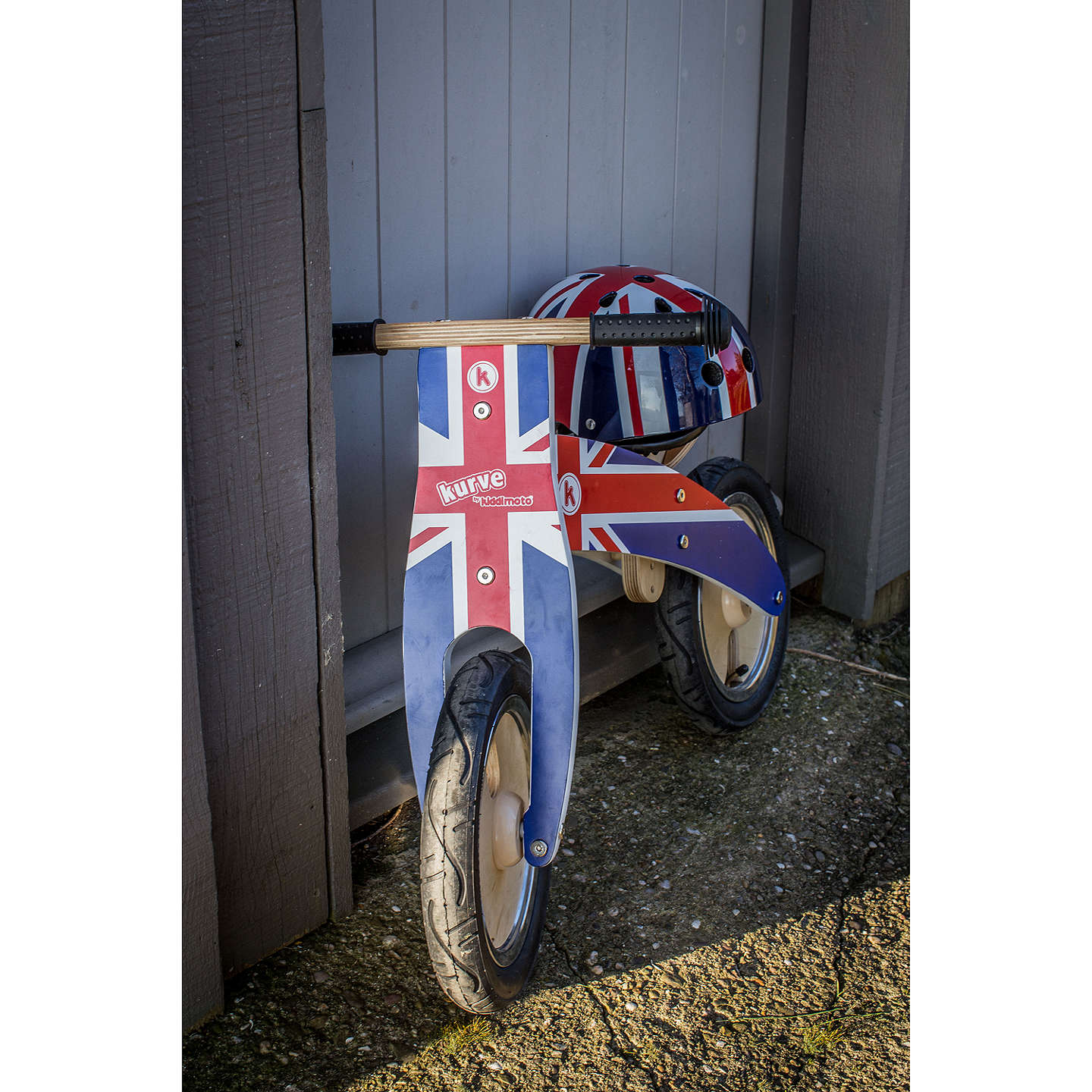 Buykiddimoto Kurve Balance Bike, Union Jack Online At Johnlewiscom
