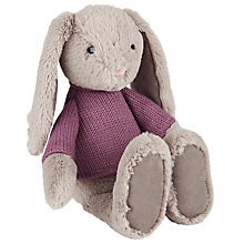 Buy John Lewis Bunny In Pink Jumper Soft Toy Online at johnlewis.com