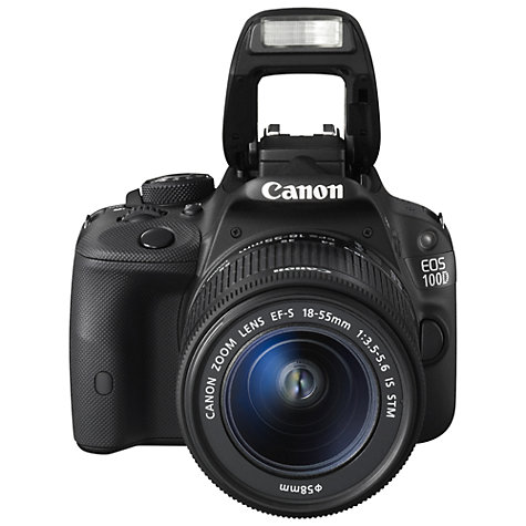 "Buy Canon EOS 100D Digital SLR Camera with EF-S 18-55mm f/3.5-5.6 IS STM & EF 75-300mm f/4-5.6 III Zoom Lens, HD 1080p, 18MP, 3"" LCD Touch Screen Online at johnlewis.com"