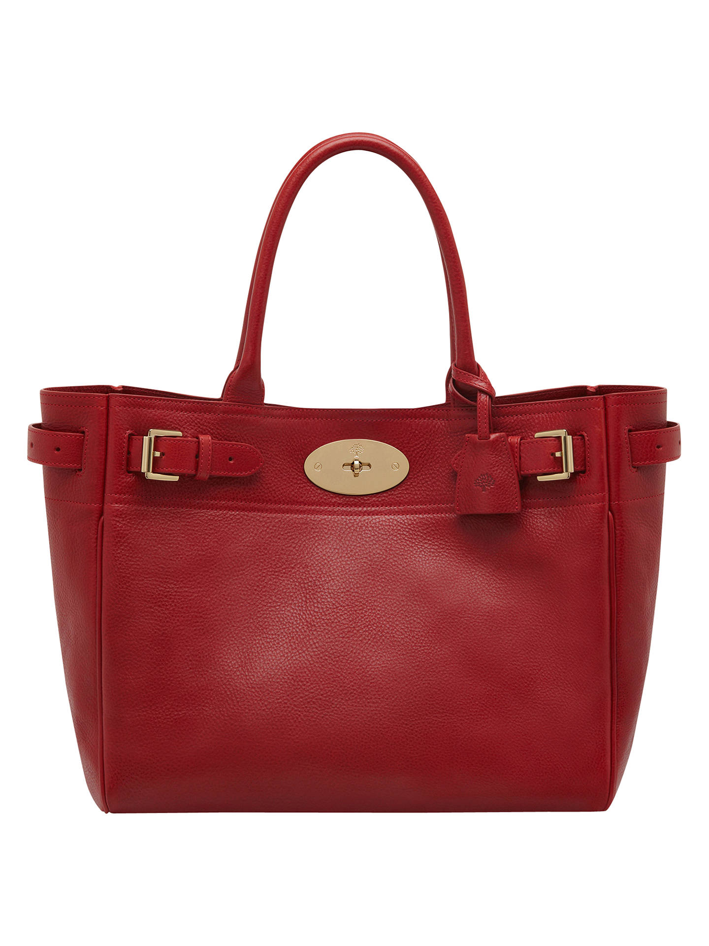 1152c8d0bbc BuyMulberry Bayswater Leather Tote Bag, Poppy Online at johnlewis.com ...