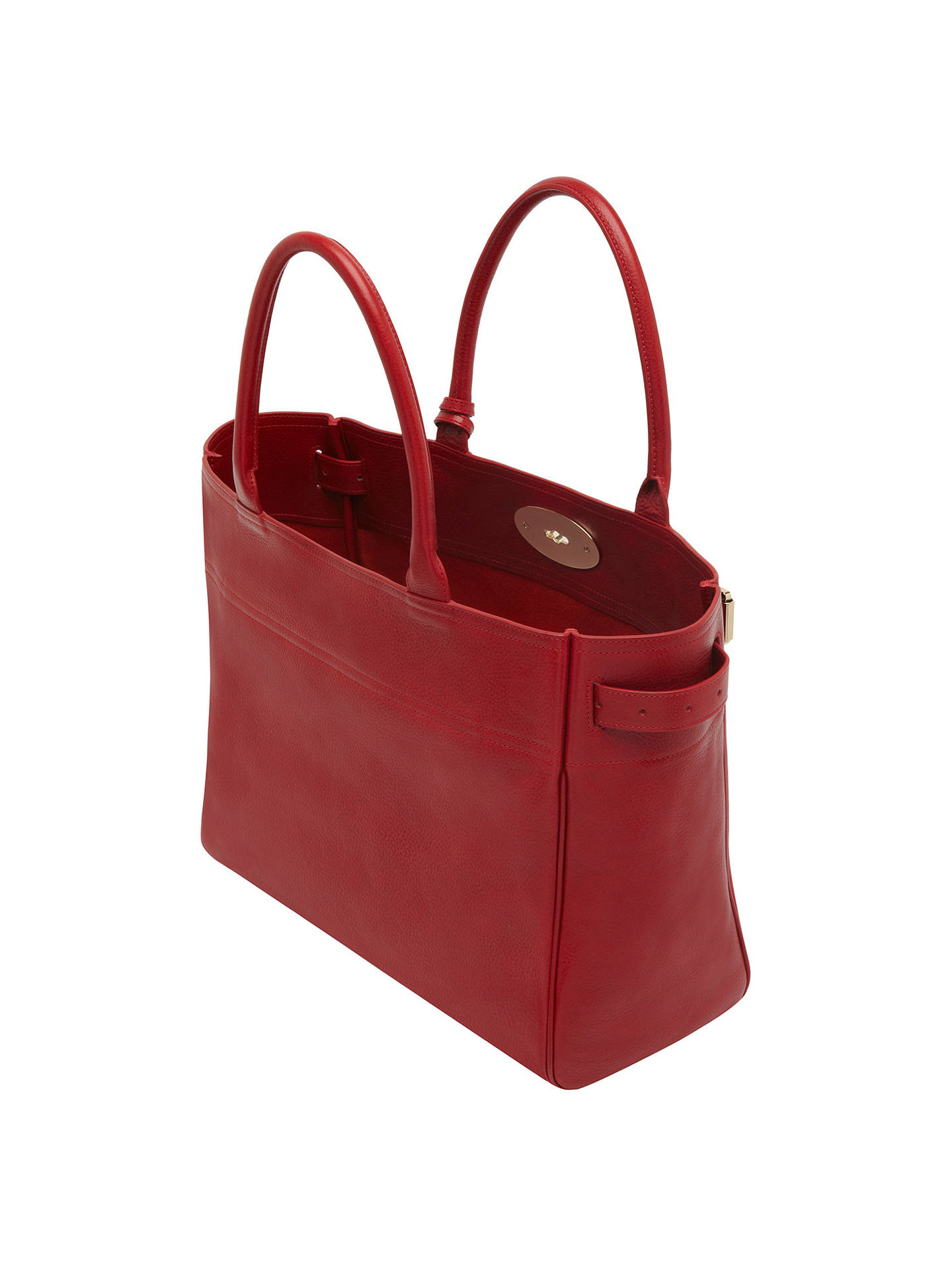 Mulberry Bayswater Leather Tote Bag Poppy Online At Johnlewis