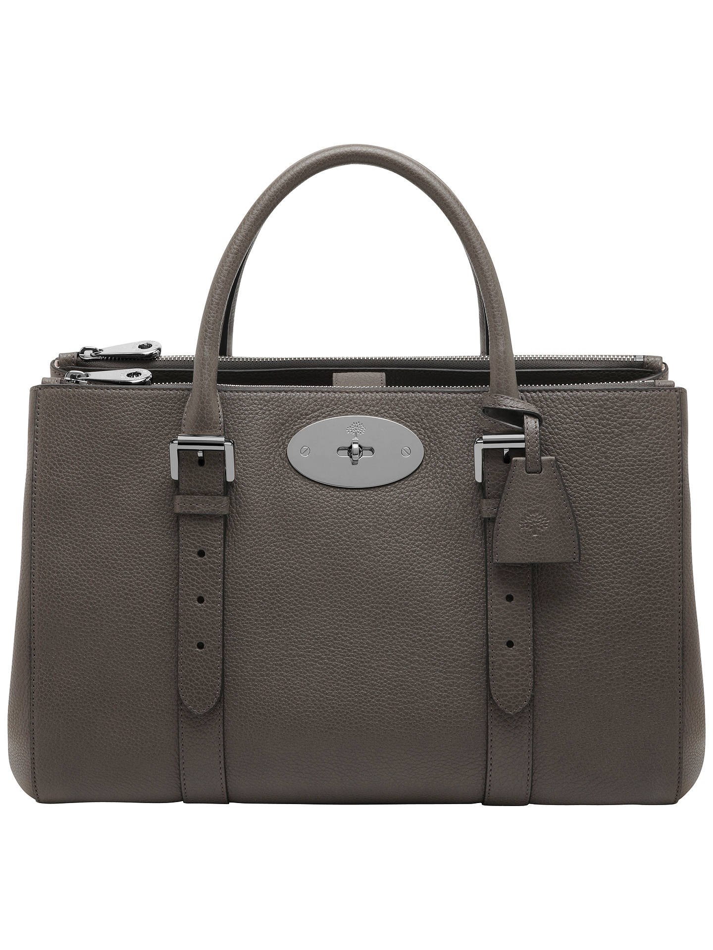 db9dc93a75c Buy Mulberry Bayswater Leather Double Zip Tote Bag, Mole Grey Online at  johnlewis.com ...