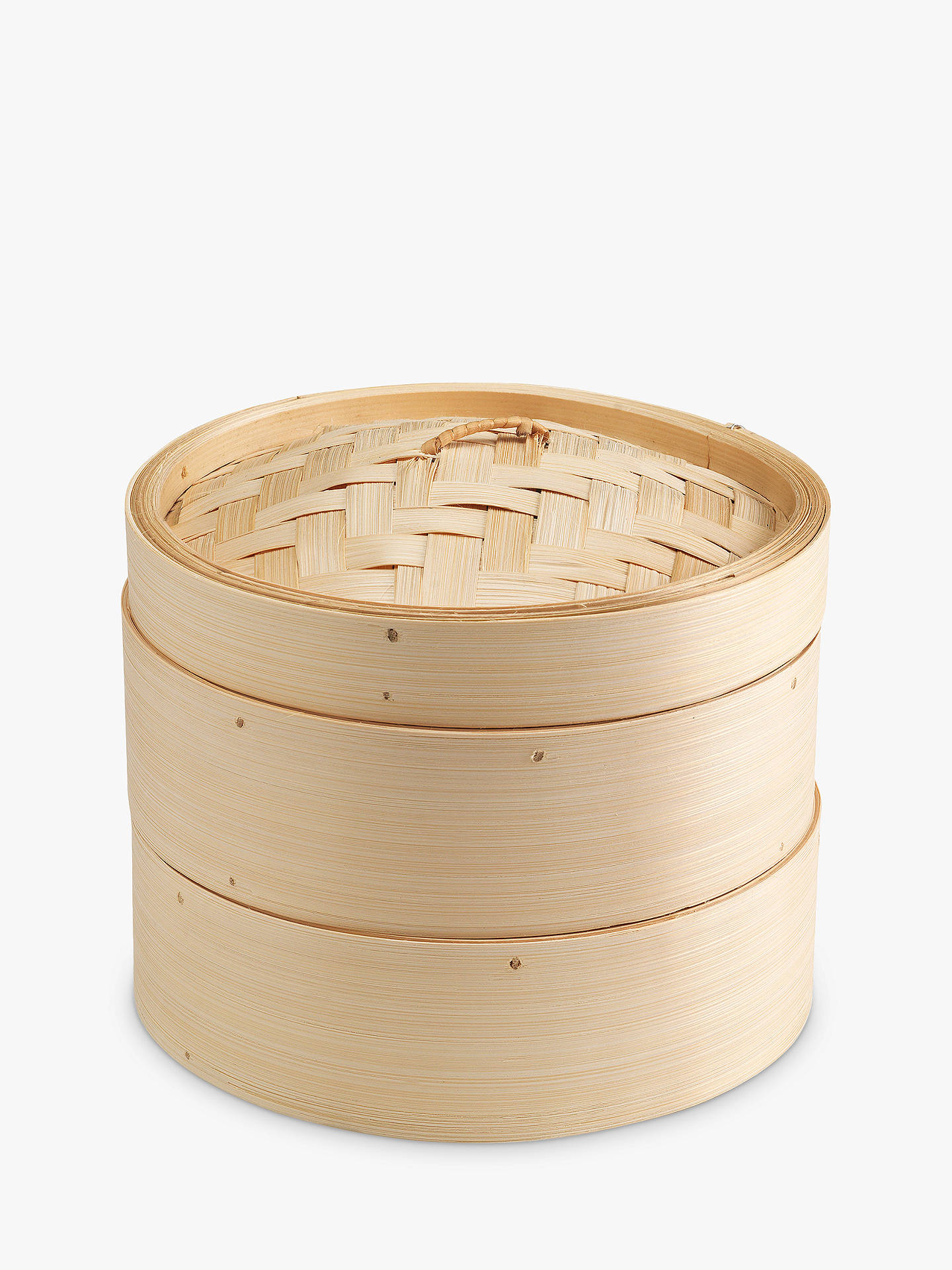 BuyKen Hom 2-Tier Bamboo Steamer, 20cm Online at johnlewis.com