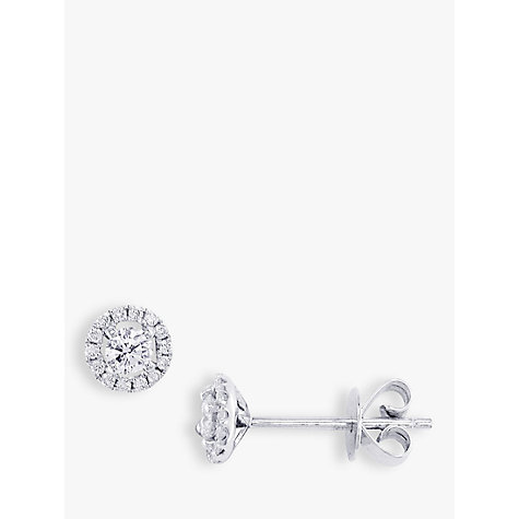 Buy EWA 18ct White Gold Diamond Cluster Stud Earrings, White Gold Online at johnlewis.com