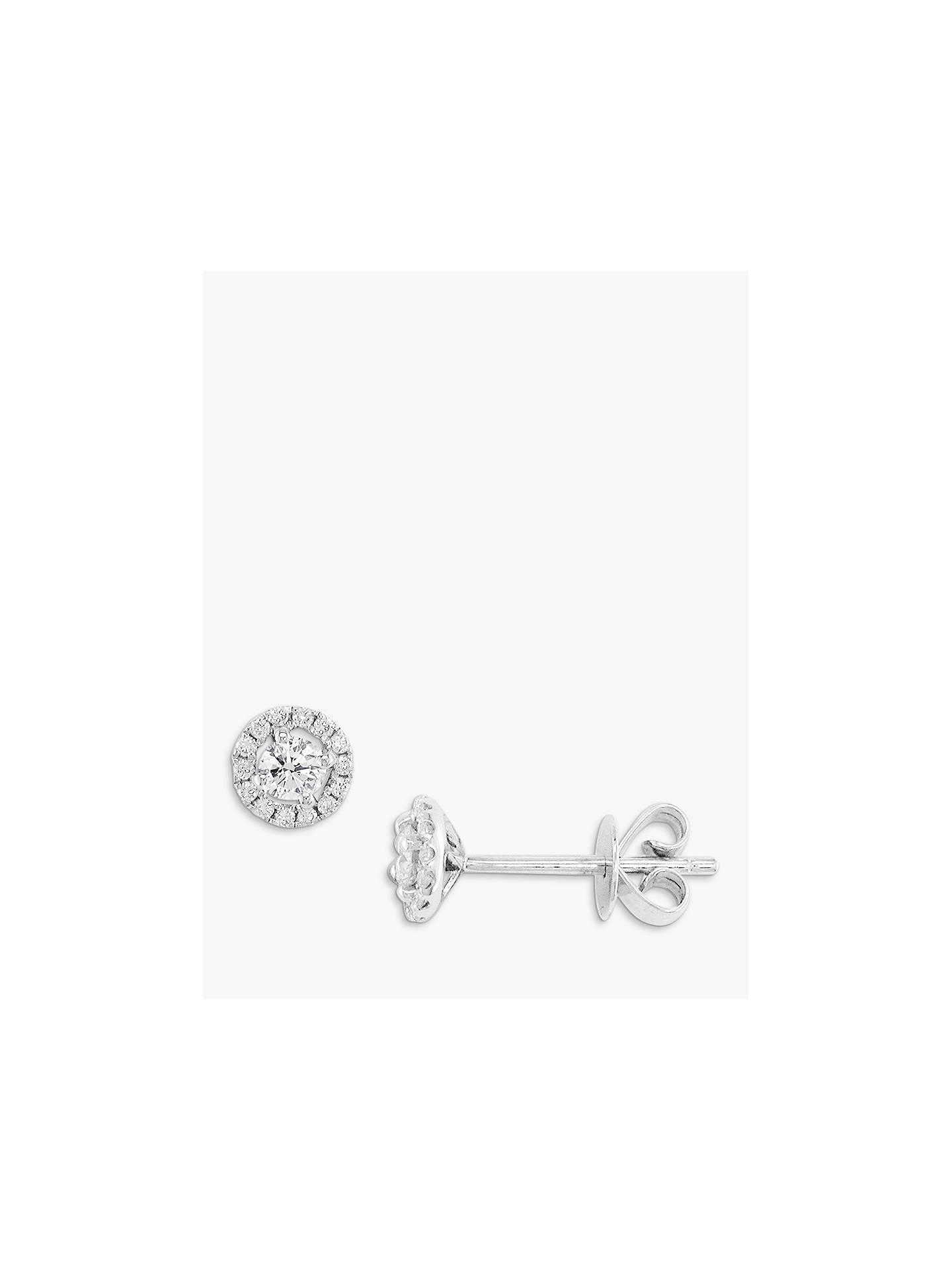 Ewa 18ct White Gold Diamond Cluster Stud Earrings White Gold At