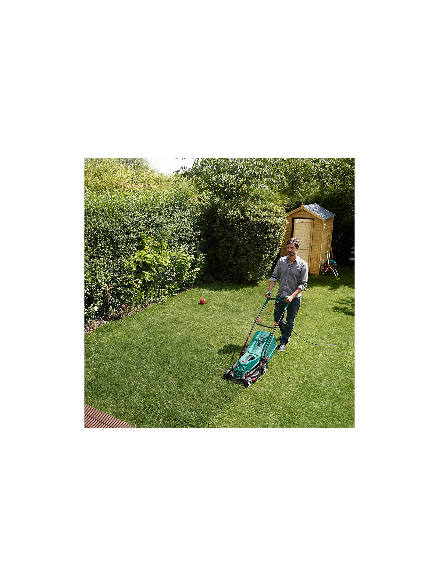 BuyBosch Rotak 36R Rotary Hand-Propelled Electric Lawnmower Online at johnlewis.com