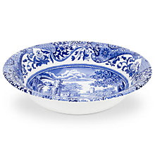 Buy Spode Blue Italian 15cm Cereal Bowl, Seconds Online at johnlewis.com