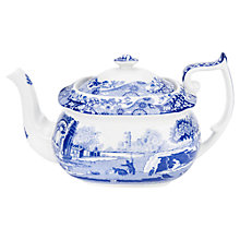 Buy Spode Blue Italian Teapot, 1.1L, Seconds Online at johnlewis.com