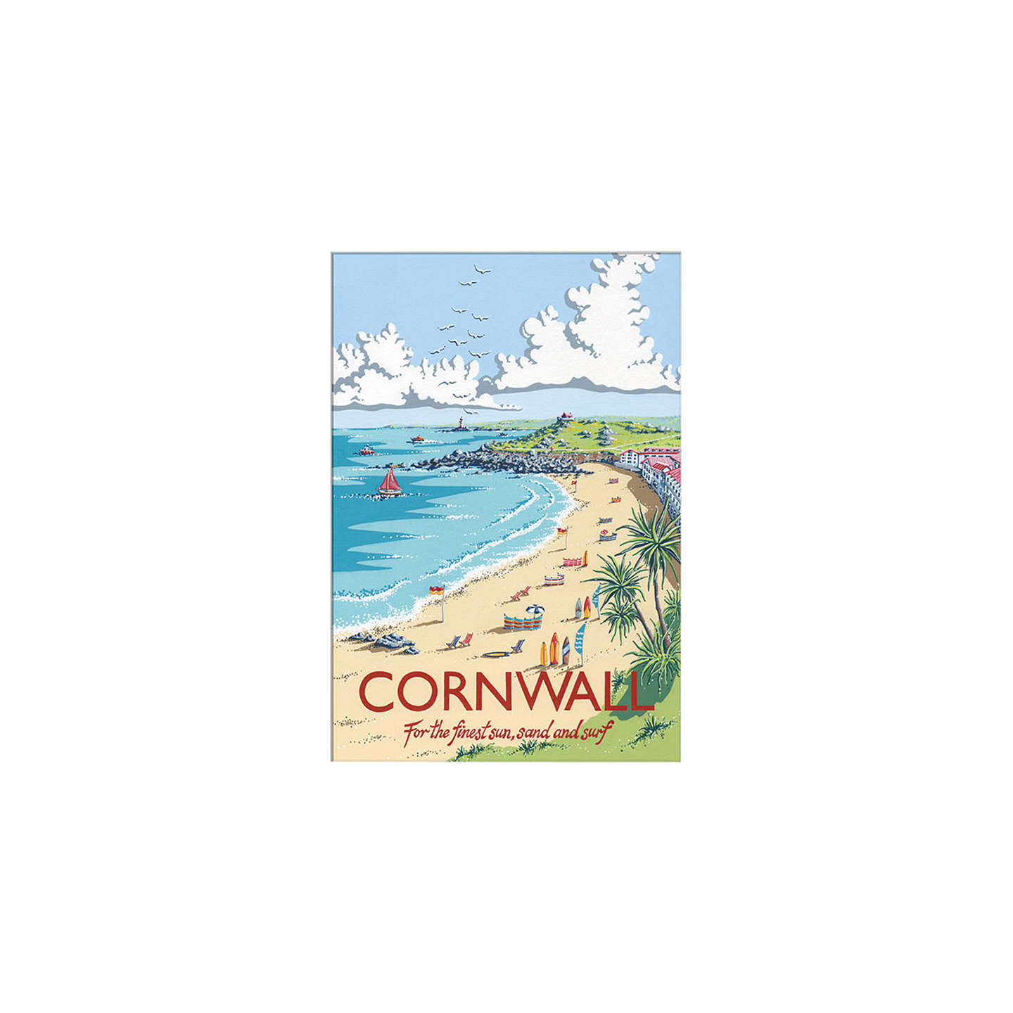 BuyKelly Hall - Cornwall Unframed Print with Mount, 30 x 40cm Online at johnlewis.com