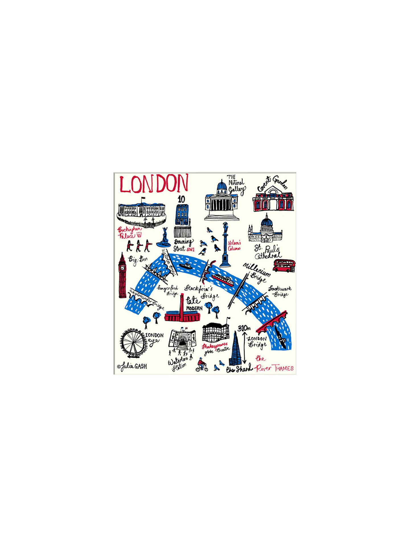 BuyJulia Gash - London Unframed Print with Mount, 30 x 40cm Online at johnlewis.com