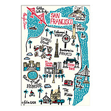 Buy Julia Gash - San Francisco Unframed Print with Mount, 30 x 40cm Online at johnlewis.com