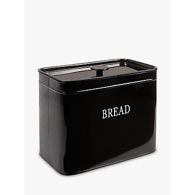 John Lewis Classic Enamel Bread Bin, Black