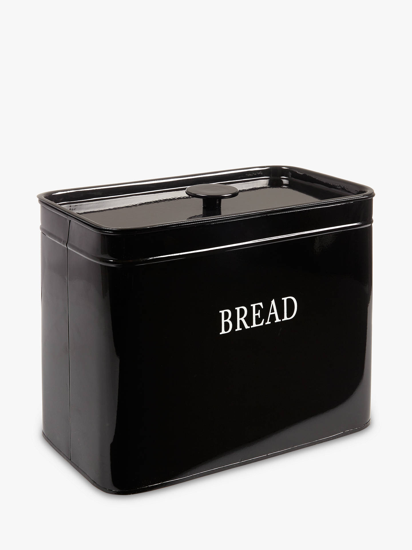 john lewis classic enamel bread bin black at john lewis. Black Bedroom Furniture Sets. Home Design Ideas