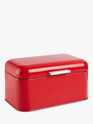 House by John Lewis Bread Bin, Red