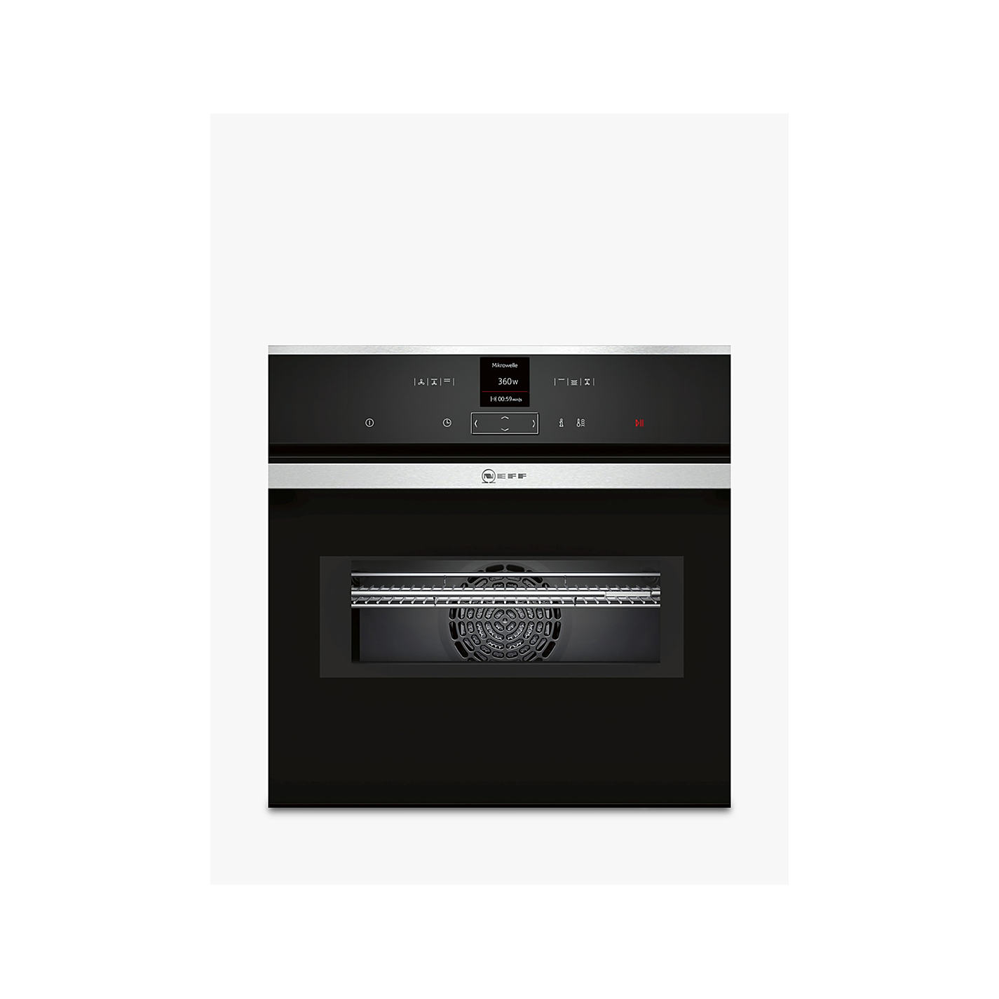 Neff C17mr02n0b Built In Combination Microwave Stainless Steel Online At Johnlewis