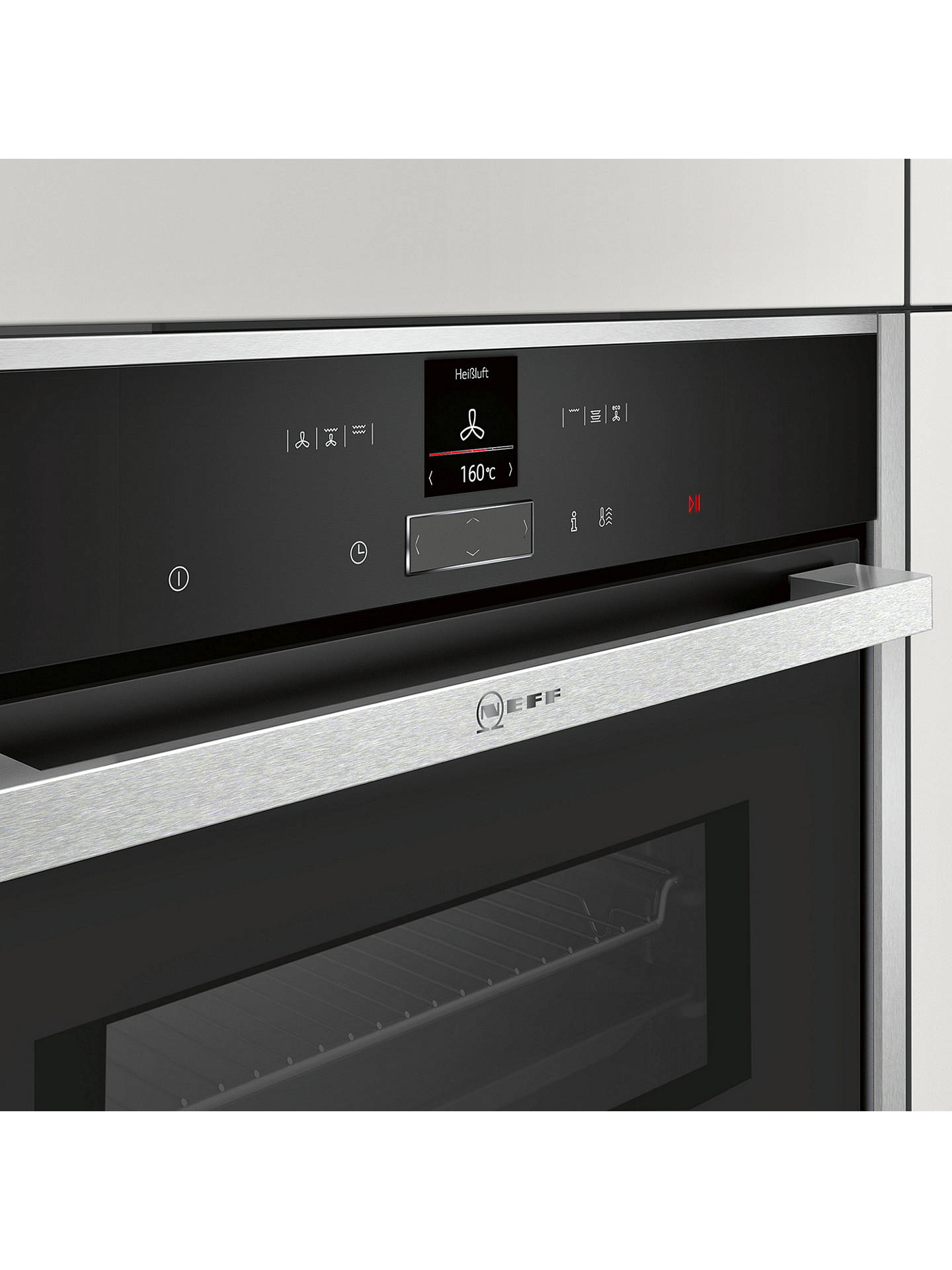 BuyNeff C17MR02N0B Built-in Combination Microwave Oven, Stainless Steel Online at johnlewis.com