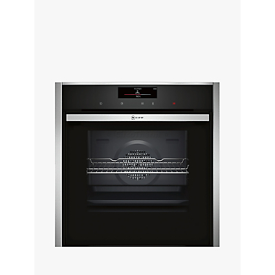 Image of Neff B58CT68N0B Slide & Hide Electric Built-in Single Oven Stainless Steel