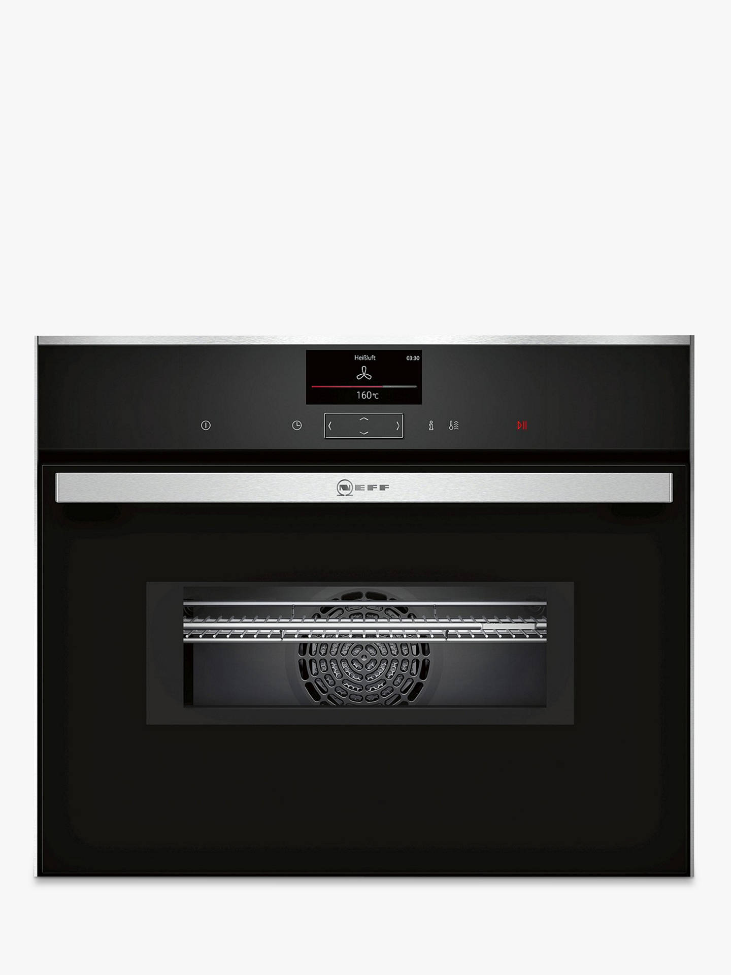 BuyNeff C27MS22N0B Built-In Combination Microwave Oven Online at johnlewis.com
