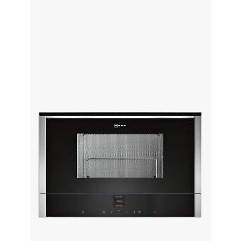 Neff C17gr01n0b Built In Microwave With Grill Stainless Steel Online At Johnlewis
