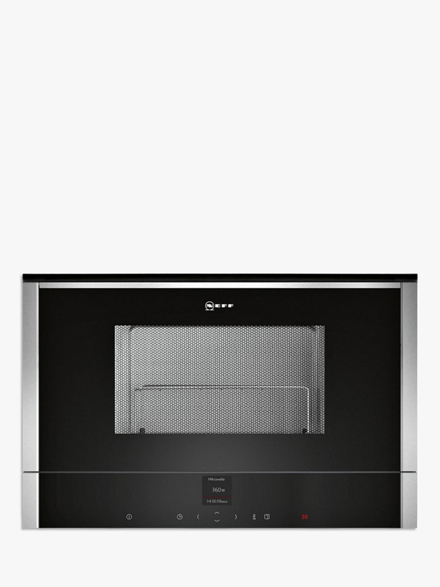 BuyNeff C17GR01N0B Built-In Microwave with Grill, Stainless Steel Online at johnlewis.com