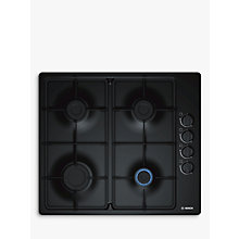 Buy Bosch Serie 2 PBP6B6B60 Gas Hob, Black Online at johnlewis.com