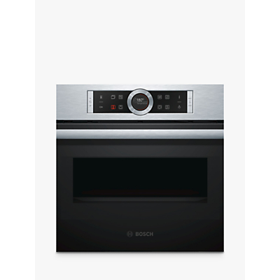 Image of Bosch CMG633BS1B Compact Built-In Combination Microwave Oven, Stainless Steel